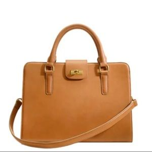 NWT J Crew Edie Attaché leather purse